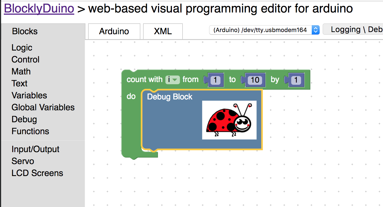 Arduino LCD Screen Workbook With Blocks – Get started